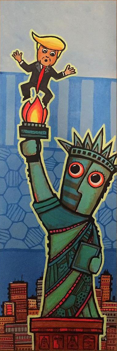 Liberty burns Trump