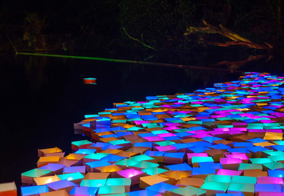 A sparkling stream – for you and me – Glanzlichter Fuerth Ufer prommenade