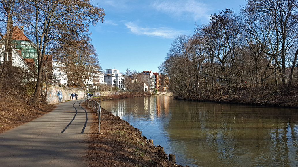 Along the Pegnitz in Nuremberg