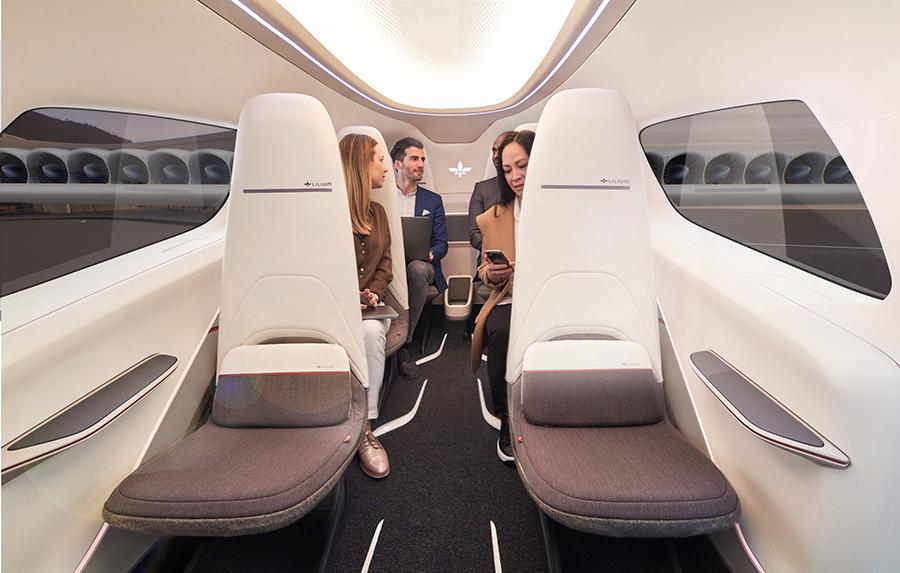 Interior of Lilium Jet