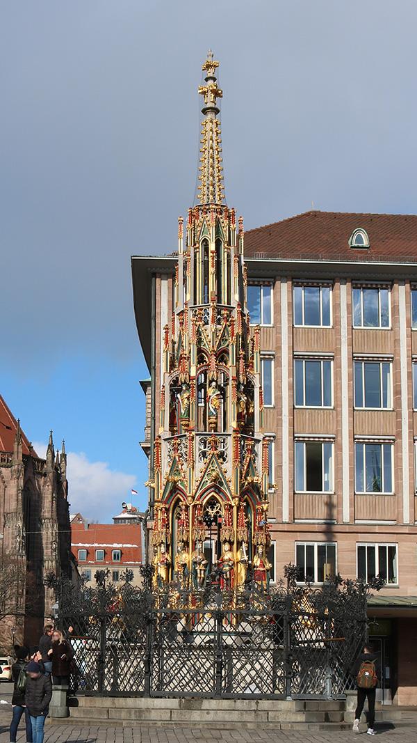 Beautiful Fountain, Main Market Square, Nuremberg.